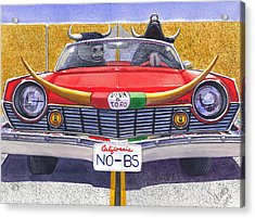 No B.s. Acrylic Print by Catherine G McElroy