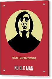 No Country For Old Man Poster 3 Acrylic Print by Naxart Studio