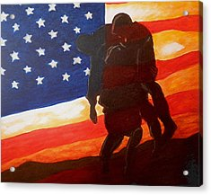 No One Gets Left Behind Acrylic Print by Al  Molina