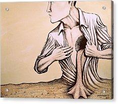 No Quiero Vivir En La Pobreza De La Racionalidad Acrylic Print by Paulo Zerbato