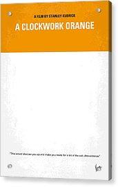 No002 My A Clockwork Orange Minimal Movie Poster Acrylic Print by Chungkong Art