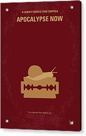 No006 My Apocalypse Now Minimal Movie Poster Acrylic Print by Chungkong Art