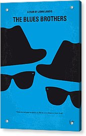 No012 My Blues Brother Minimal Movie Poster Acrylic Print by Chungkong Art