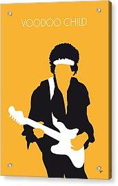 No014 My Jimi Hendrix Minimal Music Poster Acrylic Print by Chungkong Art