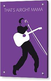 No021 My Elvis Minimal Music Poster Acrylic Print by Chungkong Art