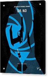 No024 My Dr No James Bond Minimal Movie Poster Acrylic Print by Chungkong Art