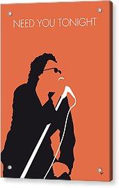 No033 My Inxs Minimal Music Poster Acrylic Print by Chungkong Art