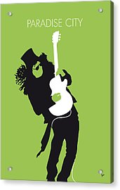 No036 My Guns And Roses Minimal Music Poster Acrylic Print by Chungkong Art