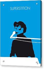 No039 My Stevie Wonder Minimal Music Poster Acrylic Print by Chungkong Art