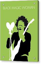 No046 My Santana Minimal Music Poster Acrylic Print by Chungkong Art