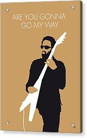 No050 My Lenny Kravitz Minimal Music Poster Acrylic Print by Chungkong Art