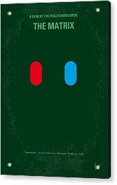 No117 My Matrix Minimal Movie Poster Acrylic Print by Chungkong Art