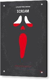 No121 My Scream Minimal Movie Poster Acrylic Print by Chungkong Art