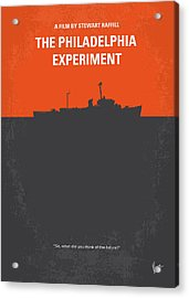 No126 My The Philadelphia Experiment Minimal Movie Poster Acrylic Print by Chungkong Art