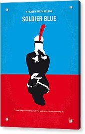 No136 My Soldier Blue Minimal Movie Poster Acrylic Print by Chungkong Art