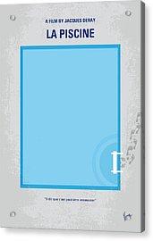 No137 My La Piscine Minimal Movie Poster Acrylic Print by Chungkong Art