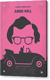 No147 My Annie Hall Minimal Movie Poster Acrylic Print by Chungkong Art