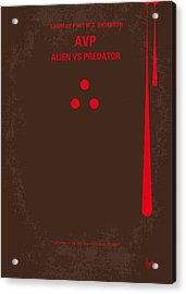 No148 My Avp Minimal Movie Poster Acrylic Print by Chungkong Art