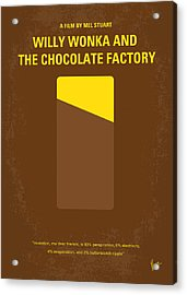 No149 My Willy Wonka And The Chocolate Factory Minimal Movie Poster Acrylic Print by Chungkong Art