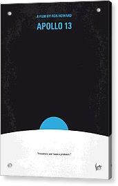 No151 My Apollo 13 Minimal Movie Poster Acrylic Print by Chungkong Art