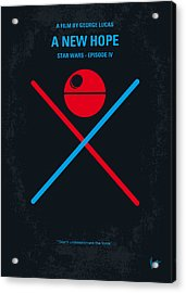 No154 My Star Wars Episode Iv A New Hope Minimal Movie Poster Acrylic Print by Chungkong Art