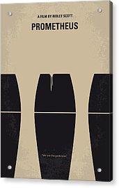 No157 My Prometheus Minimal Movie Poster Acrylic Print by Chungkong Art
