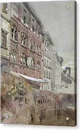 No.1590 Palazzo Agostini, Pisa, 1845 Acrylic Print by John Ruskin