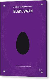 No162 My Black Swan Minimal Movie Poster Acrylic Print by Chungkong Art
