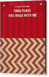 No169 My Fire Walk With Me Minimal Movie Poster Acrylic Print by Chungkong Art