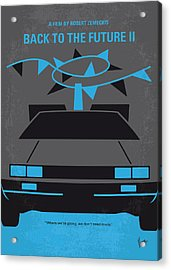 No183 My Back To The Future Minimal Movie Poster-part II Acrylic Print by Chungkong Art