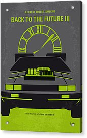 No183 My Back To The Future Minimal Movie Poster-part IIi Acrylic Print by Chungkong Art