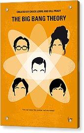 No196 My The Big Bang Theory Minimal Poster Acrylic Print by Chungkong Art