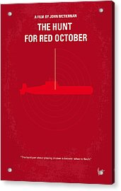 No198 My The Hunt For Red October Minimal Movie Poster Acrylic Print by Chungkong Art