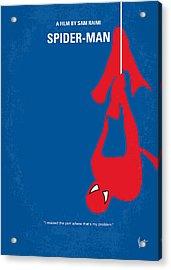 No201 My Spiderman Minimal Movie Poster Acrylic Print by Chungkong Art