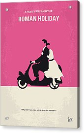 No205 My Roman Holiday Minimal Movie Poster Acrylic Print by Chungkong Art