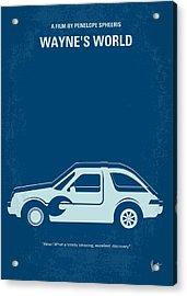 No211 My Waynes World Minimal Movie Poster Acrylic Print by Chungkong Art