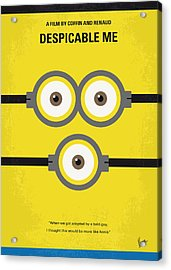 No213 My Despicable Me Minimal Movie Poster Acrylic Print by Chungkong Art