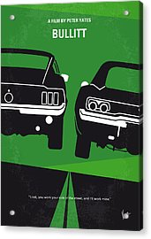No214 My Bullitt Minimal Movie Poster Acrylic Print by Chungkong Art