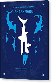 No216 My Sharknado Minimal Movie Poster Acrylic Print by Chungkong Art