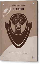 No217 My Oblivion Minimal Movie Poster Acrylic Print by Chungkong Art