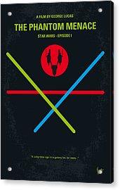 No223 My Star Wars Episode I The Phantom Menace Minimal Movie Poster Acrylic Print by Chungkong Art