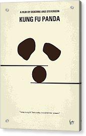 No227 My Kung Fu Panda Minimal Movie Poster Acrylic Print by Chungkong Art
