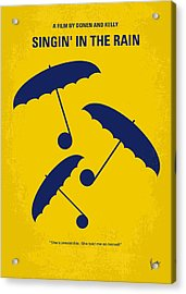 No254 My Singin In The Rain Minimal Movie Poster Acrylic Print by Chungkong Art