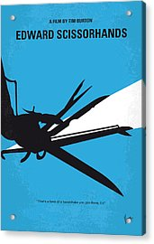 No260 My Scissorhands Minimal Movie Poster Acrylic Print by Chungkong Art