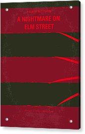 No265 My Nightmare On Elmstreet Minimal Movie Poster Acrylic Print by Chungkong Art