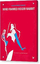 No271 My Roger Rabbit Minimal Movie Poster Acrylic Print by Chungkong Art
