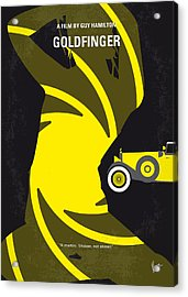 No277-007 My Goldfinger Minimal Movie Poster Acrylic Print by Chungkong Art
