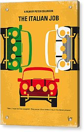 No279 My The Italian Job Minimal Movie Poster Acrylic Print by Chungkong Art