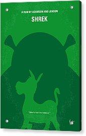 No280 My Shrek Minimal Movie Poster Acrylic Print by Chungkong Art