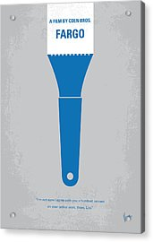 No283 My Fargo Minimal Movie Poster Acrylic Print by Chungkong Art